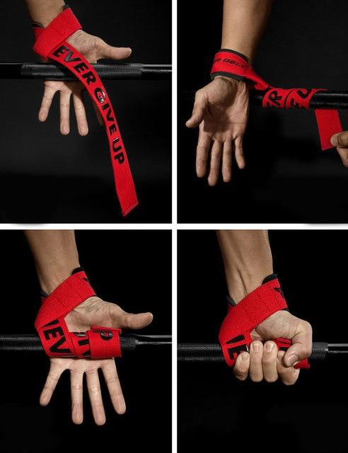 MKAS Weight lifting Wrist Straps Fitness Bodybuilding Training Gym CrossFit lifting straps with Non Slip Flex Gel Grip 4