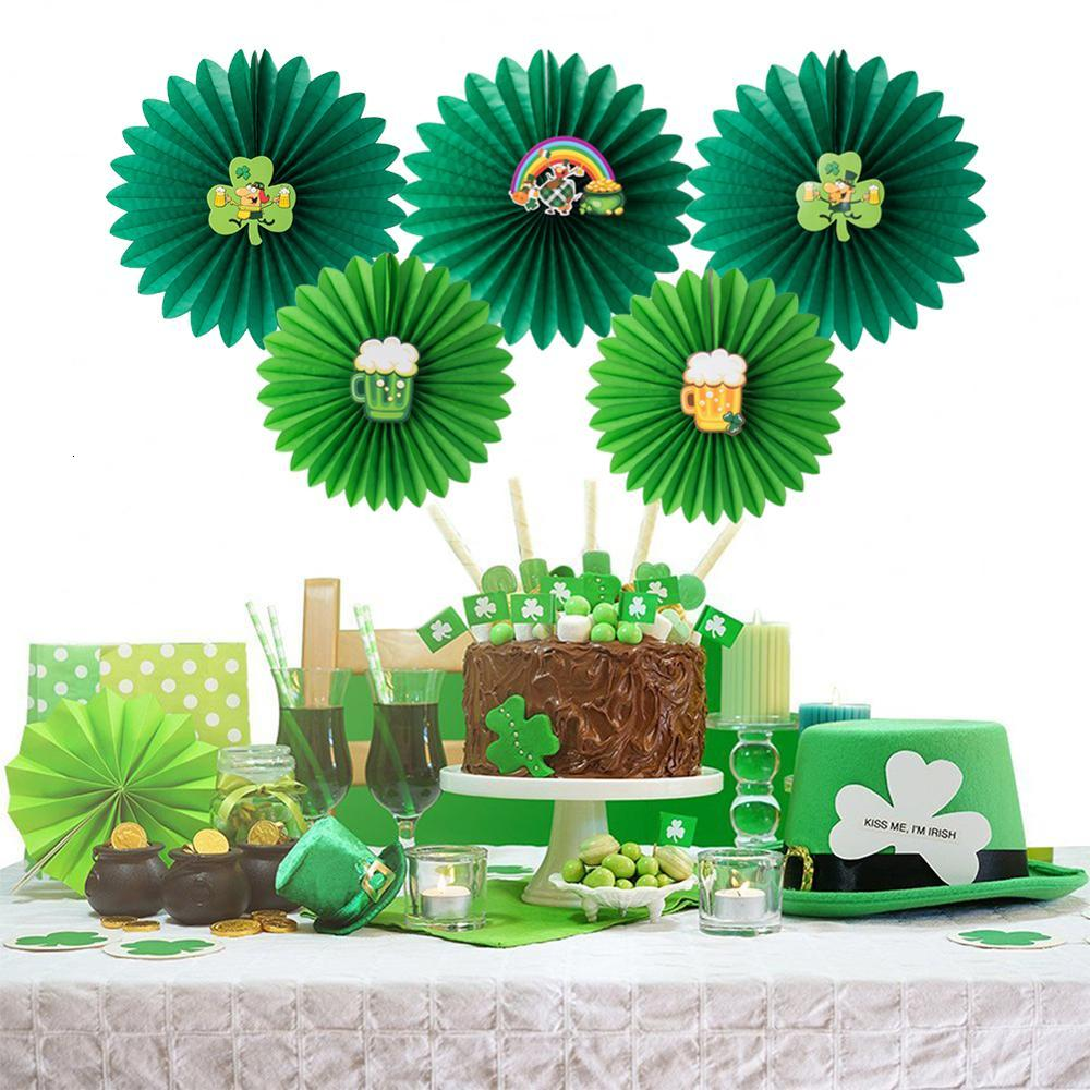 Miraculous 5Pcs St Patricks Day Paper Fans Decorative Rosettes Paper Crafts Birthday Cards Printable Trancafe Filternl