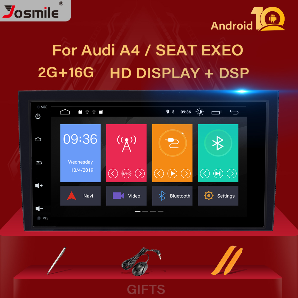 2GB 2 Din Car Radio GPS Android 10 Car DVD Player for <font><b>Audi</b></font> <font><b>A4</b></font> B8 S4 <font><b>B6</b></font> B7 RS4 8E 8H B9 Seat Exeo <font><b>Multimedia</b></font> Navigation head unit image