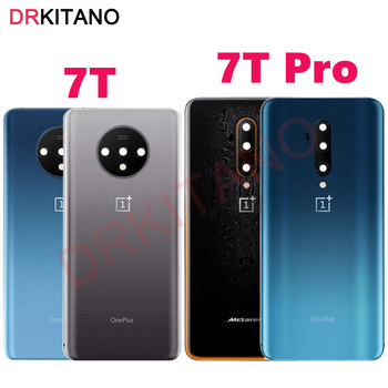 Original Back Glass Panel Oneplus 7T Pro Back Battery Cover ONE PLUS 7T Pro Rear Door Housing Case Oneplus 7T Battery Cover original new back glass oneplus 7 7t pro battery cover door one plus 7t rear housing case oneplus 7 pro battery cover panel
