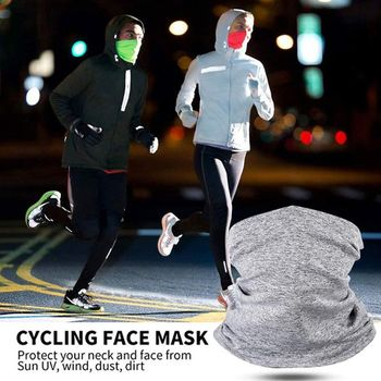 Men Women Neck Gaiter Scarf with Filter Pocket Tube Bandana Motorcycle Half Face Cover Outdoor Cycling Sunscreen Dustproof Mask 1