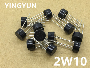 10PCS/Lot   2W10 2A 1000V Diode Bridge Rectifier replace 2W06 2W08  New 10pcs smd us1m uf4007 1a 1000v sma fast recovery diode rectifier