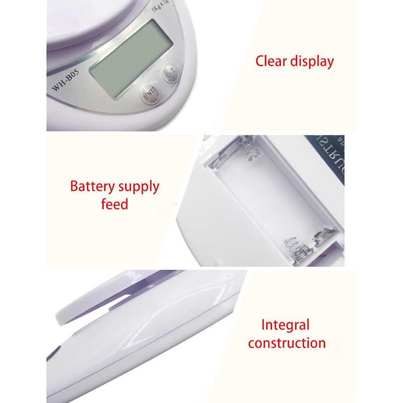 5 kg/1g przenośna cyfrowa skala LED wagi elektroniczne pocztowy bilans żywności waga pomiarowa kuchnia LED wagi elektroniczne