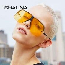 Мужские и женские очки в полуоправе shauna большие квадратные
