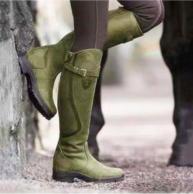 Women's Leather Horse Riding Boots 2