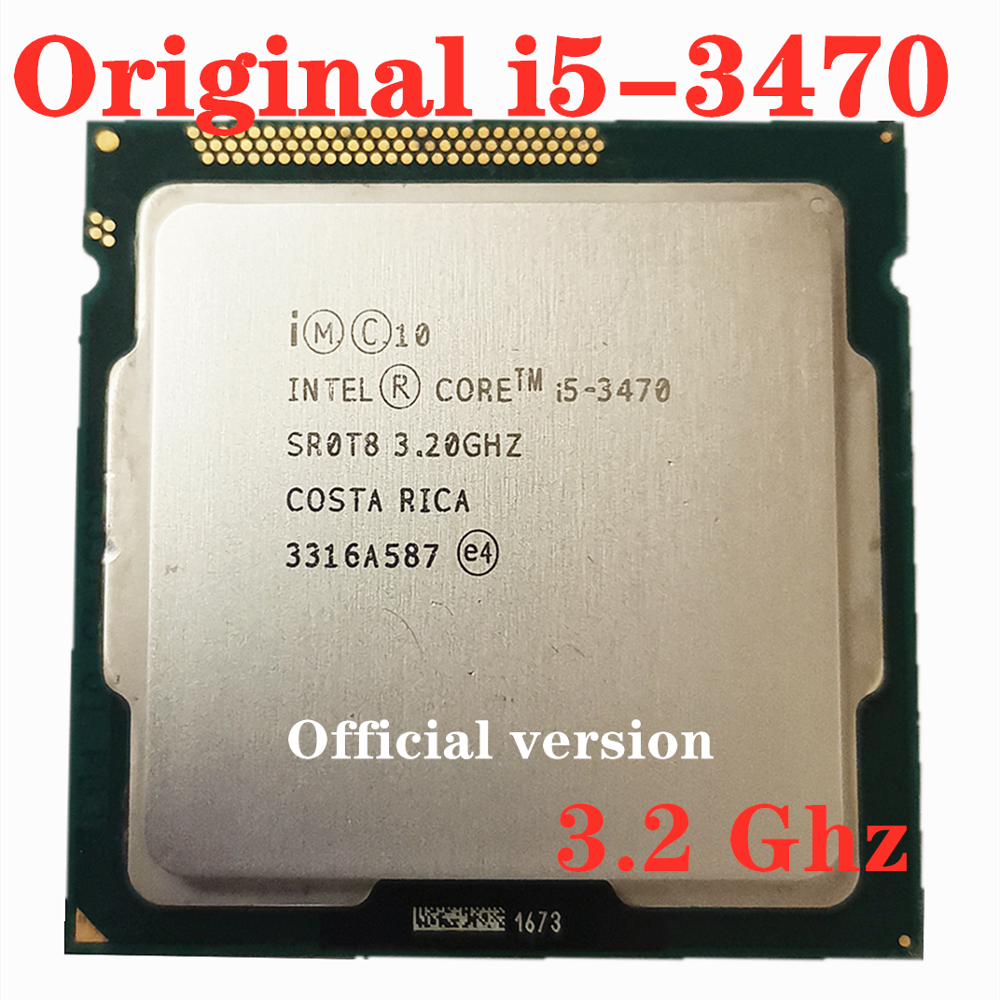 Used Intel Core i5-3470 i5 3470 3.2 GHz Quad-Core CPU Processor 6M 77W LGA <font><b>1155</b></font> image