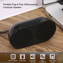Altavoz de ordenador HK 5002, altavoz USB portátil con enchufe y reproducción, bocina doble, salida de 3W para PC y portátil