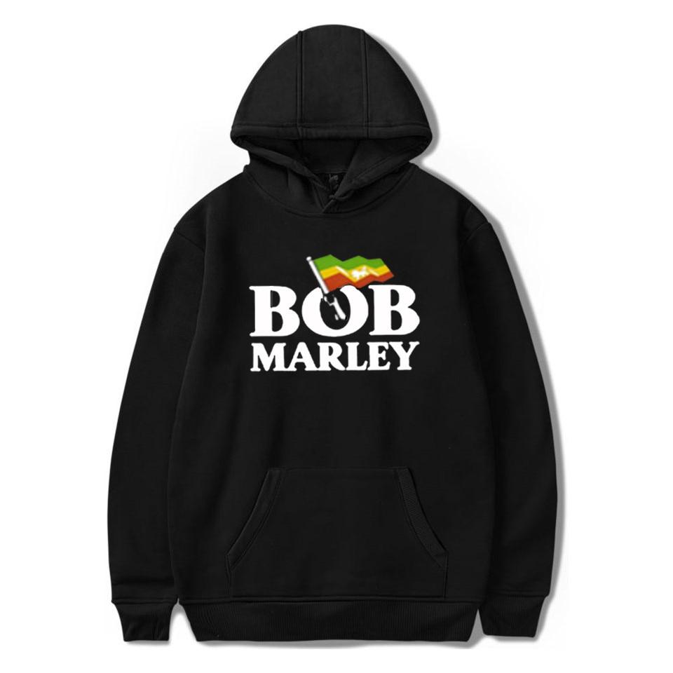 Bob Marley Harajuku Hoodie Winter Pullover Sweatshirts Womens Clothes Hip Hop Streetwear Sweatshirt For Men Sudaderas Mujer 2019