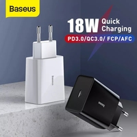 Caricabatterie USB Baseus Mini 18W/30W Quick Charge 3.0 per iPhone11 XS XR Fast Charge PD3.0 AFC per caricabatterie rapido per telefono Samsung S10