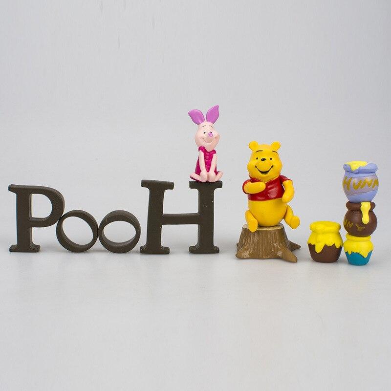 Image 3 - Disney Toy Winnie The Pooh Tigger Piggy Pijie with Honey Jar Action Figures 2 5cm Children Birthday Gifts Toys Decoration 5DWDolls   -