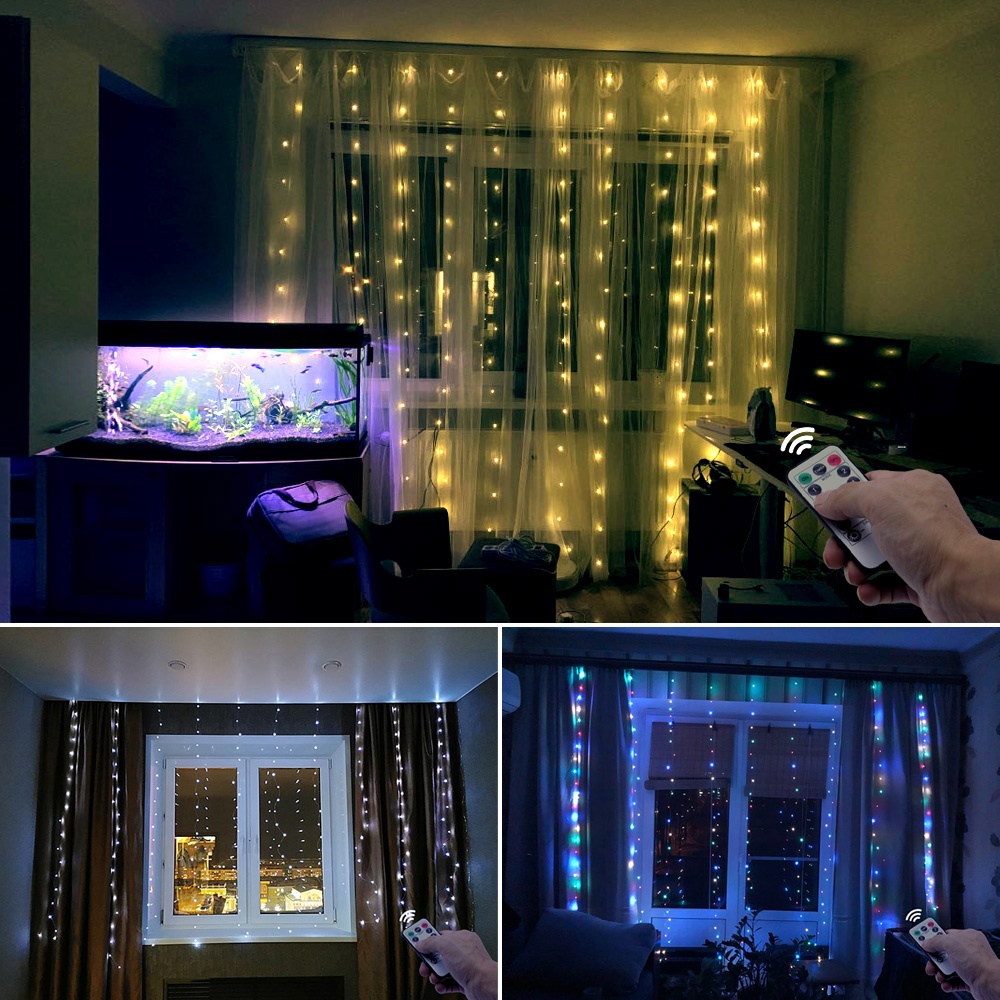 3m LED garland curtain string lights Remote Control USB fairy light Home decoration on the window Wedding party Holiday lighting Pakistan