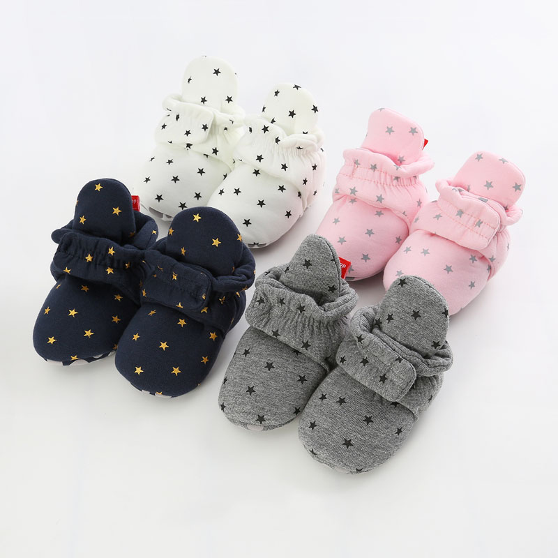 2019 Baby Newborn Baby Socks Shoes Boy Girl Star Toddler First Walkers Booties Cotton Soft Winter Warm Boots