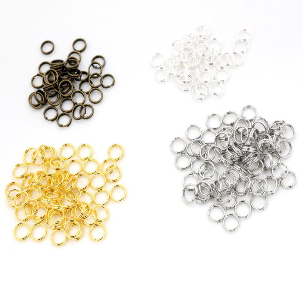 200pcs/lot 4 6 7 8 10 Mm Open Jump Rings Double Loops Gold/Silver Plated Split Rings Connectors For Jewelry Making Supplies DiY