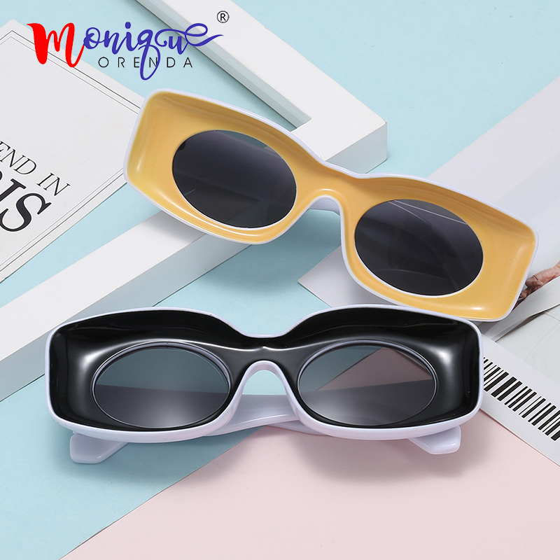 Square Sunglasses Ocean-Lens Trendy Fashion Women Summer Luxury Brand Frame For Female