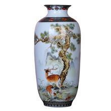 Jingdezhen ceramiczny wazon Vintage chiński styl zwierząt wazon grzywny gładka powierzchnia dekoracji wnętrz artykuły wyposażenia wnętrz R1826 tanie tanio Tradycyjny chiński Ceramiki i porcelany Blat wazon Vase Flower Vase Crystal Creative Chinese 9 8 Inches RETAIL BOX Flowers Pot