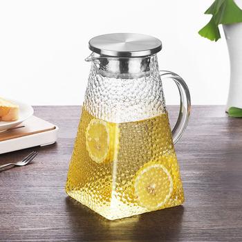 1200ml 1500ml 1800ML przezroczysty szklany dzbanek na wodę odporny na wysoką temperaturę dzbanek na herbatę dzbanek na herbatę dzbanek z filtrem ze stali nierdzewnej tanie i dobre opinie ACRDDK Szkło Ekologiczne teapot Woda garnki i kotły Lfgb CE UE