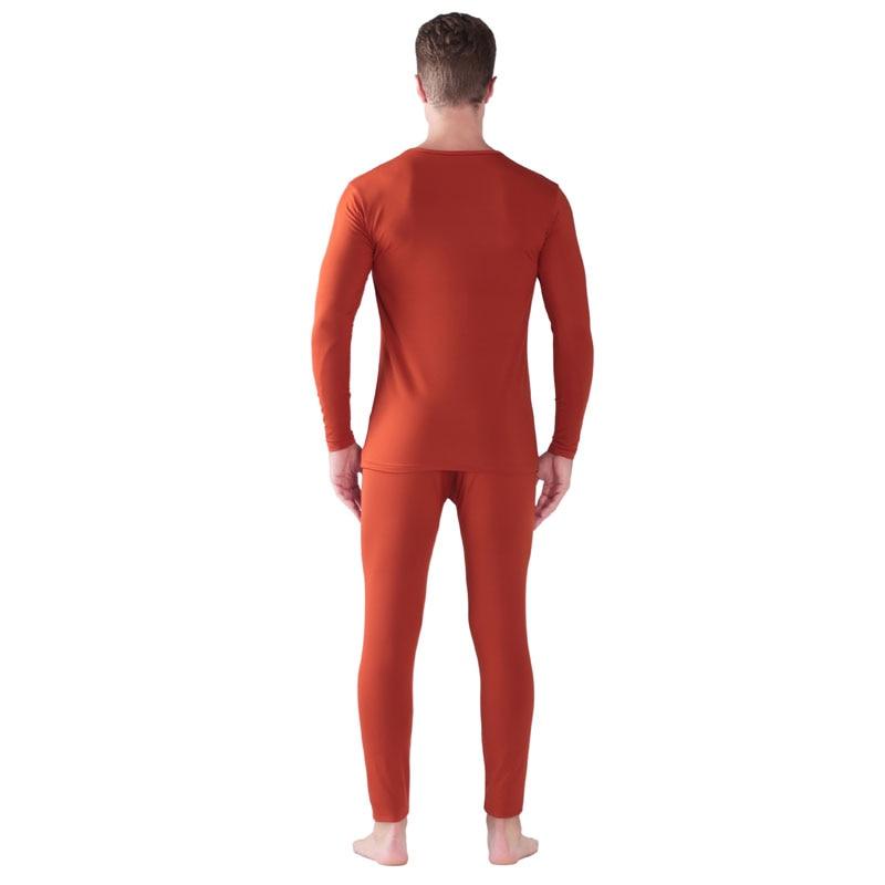 Set di Biancheria Intima termica Per Gli Uomini di Inverno Termico Biancheria Intima lunga johns Vestiti di Inverno Degli Uomini di Spessore Abbigliamento Termico Solid tenere in caldo - 4