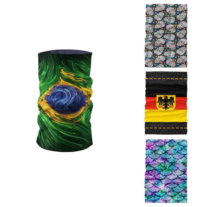 3D Printed Ring Scarf Magic Bandana Microfiber Seamless Tubular Hijab Neck Tube Fashion Sports Scarf Mask Headwear