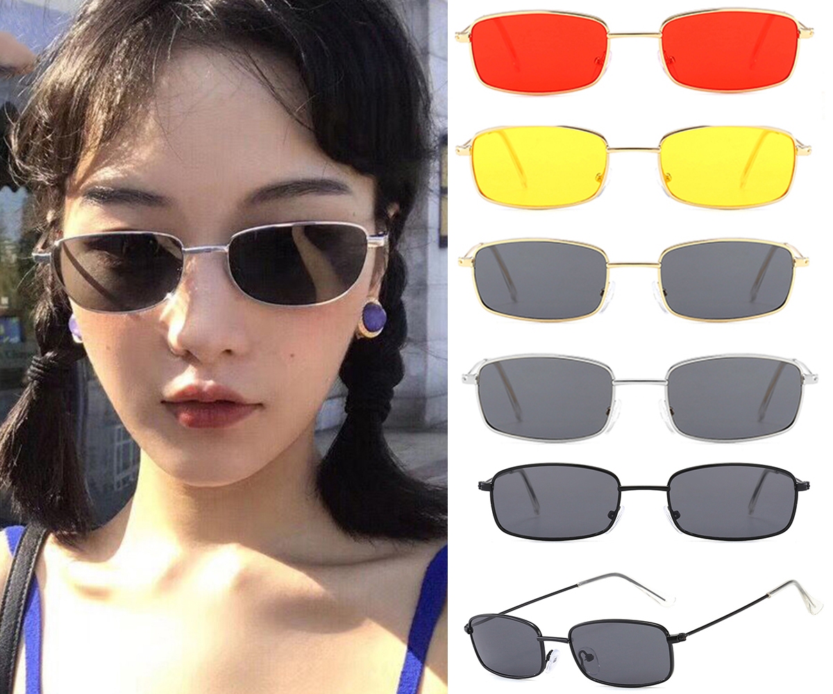 Cat Eye Square Shade For Women Fashion Sunglasses Brand Woman Vintage Retro Glasses Feminino Sunglasses Sexy D40