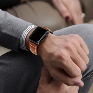 Image 4 - MAIKES pulsera de cuero con cera de aceite para Apple Watch, correa de 42mm, 38mm/44mm, 40mm, Series 4, 3, 2, para Apple Watch, correa de reloj para iWatch