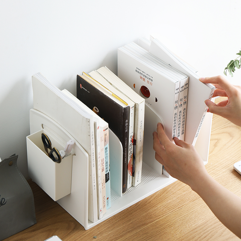 Desk Stationery Organizer Book Holder Simple Bookshelf Rack Office Accessories