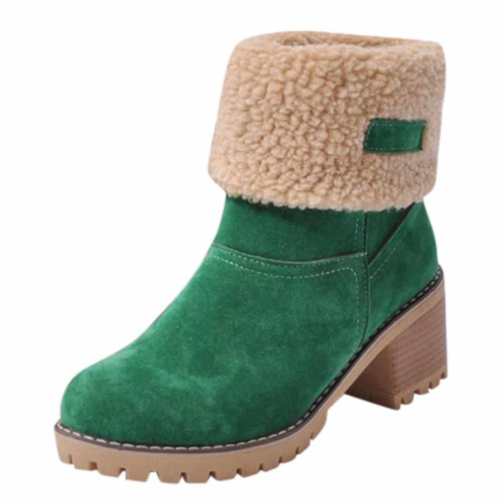 Kadın kış kürk sıcak kar botları bayanlar sıcak yün patik çizme rahat ayakkabılar artı boyutu 35-43 kadın # YL5