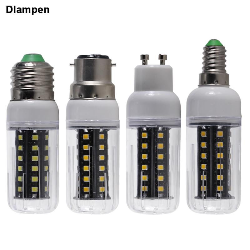 E27 B22 e14 GU10 led bulb light Ac Dc 12v 24v 36v 48v 60v 8W corn candle spotlight energy saving lamp 110v 220v home safe lights