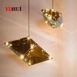 Post nowoczesne sztuki światła wiszące żyrandol na poddaszu restauracja zawieszone oświetlenie salon lampy Bar Nordic lampy wiszące led w Wiszące lampki od Lampy i oświetlenie na