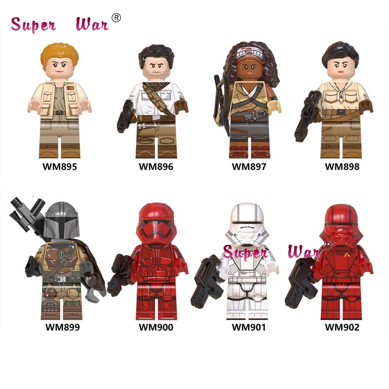 Single Mandalorian Kaydel Ko Connix Poe Dameron Jannah Sith Jet Trooper Rose Tico Darth Vader Building Blocks Model Bricks Toys