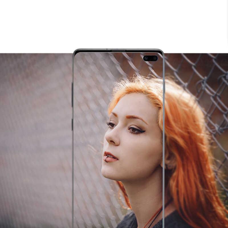 Película de lente de cámara para Samsung Galaxy S10 Plus Protector de lente de cámara de vidrio templado S10 Plus lente de cámara cubierta de anillo de Metal