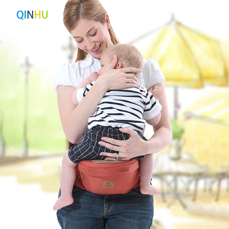 QINHU Baby Carrier Waist Stool Walkers Baby Sling Hold Waist Belt Backpack Hipseat Belt Kids Infant Hip Seat For Child Travel