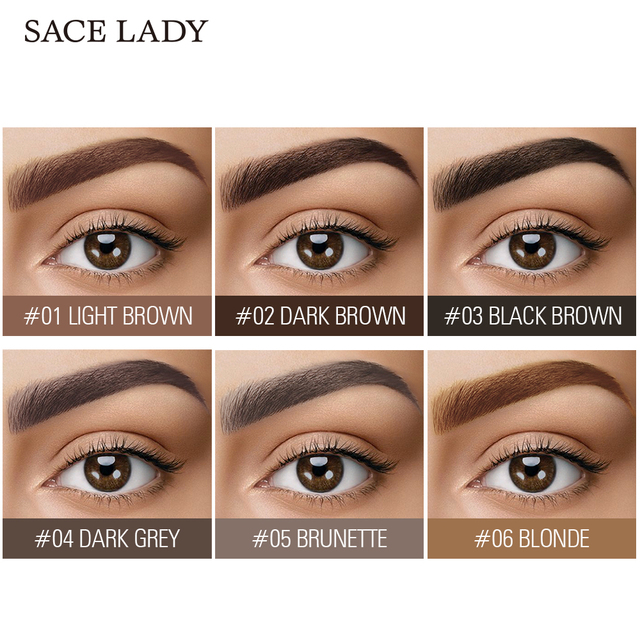 SACE LADY 6 Colors Eyebrow Gel Waterproof Tint Makeup Brush Set Brown Enhancer Eye Brow Dye Cream Make Up Paint Cosmetics 1
