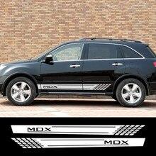 Autocollants en vinyle pour Acura MDX RDX, 2 pièces, Long autocollant latéral pour voiture, décoration automobile élégante, accessoires de voiture, bricolage