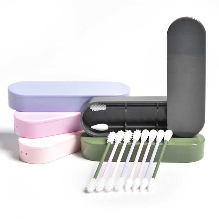 Лидер продаж, 2 шт., многоразовые ватные тампоны для чистки ушей, Косметические Силиконовые тампоны, палочки, двухсторонняя переработка для ...