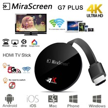 Mirascreen G7 Plus HDMI Wireless Display 2.4/5G 4K tv stick for google chromecas