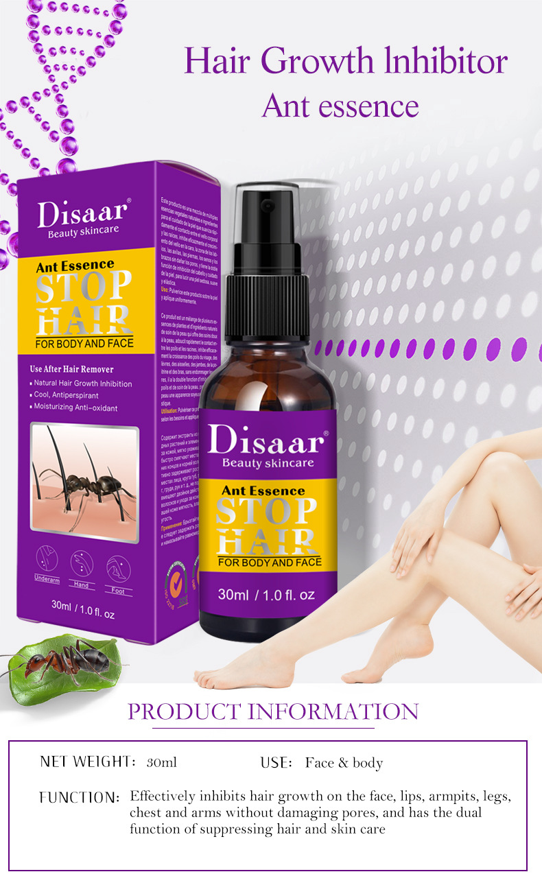 Hair Growing Stopper Ant Essence Spray