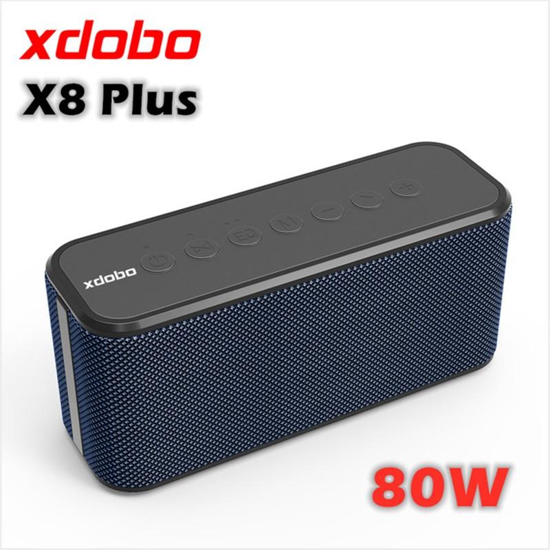 XDOBO X8 Plus 80W super high power column wireless portable subwoofer bluetooth speaker large  boom box 10400mAh Large capacity
