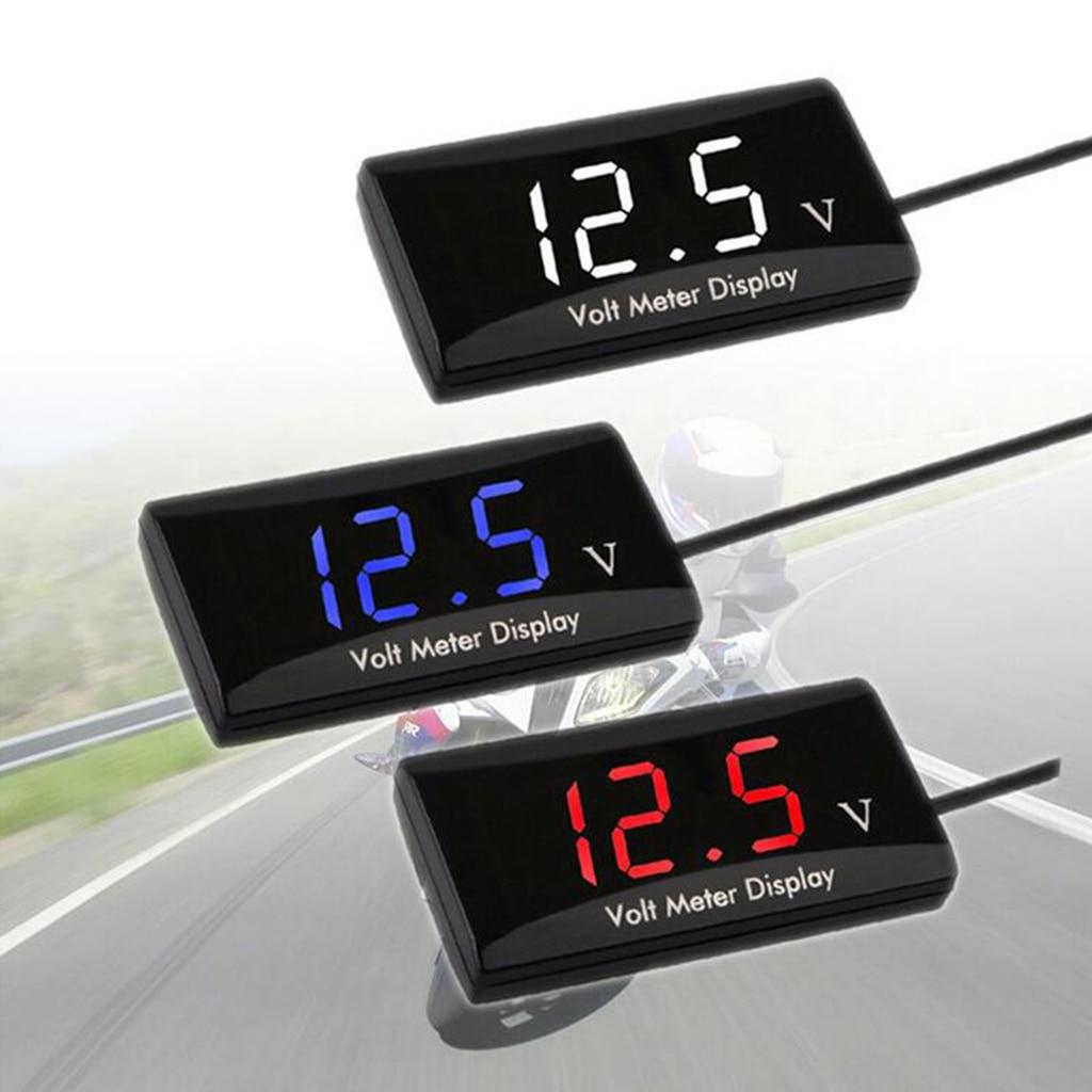New Mini Digital Voltmeter 8-16V LED Car Auto Voltage Volt Panel Meter 2 Wire