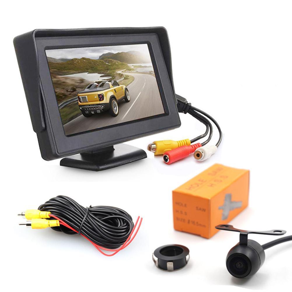 HiMISS Rear View Parking Camera   4.3 Inch LCD Display IP68 Waterproof CMOS Sensor 130 Degree Lens for Truck  Car|Car Monitors| |  - title=