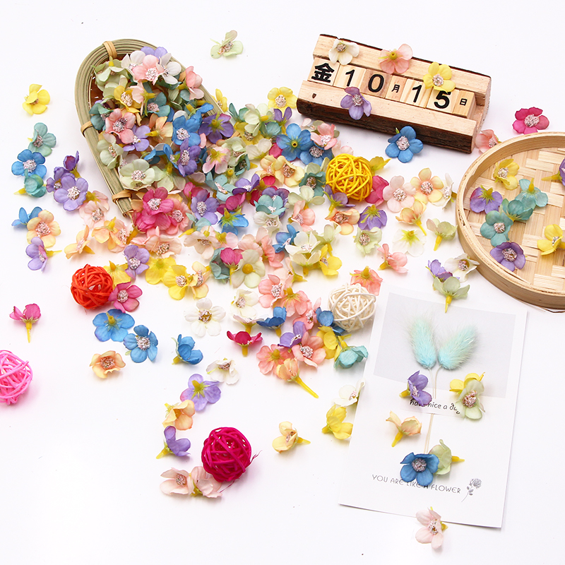 New Spring Color Mini Silk Multicolor Daisy Artificial Flower Heads For Wedding Engagement Party DIY Gifts Candy Box Home Deco