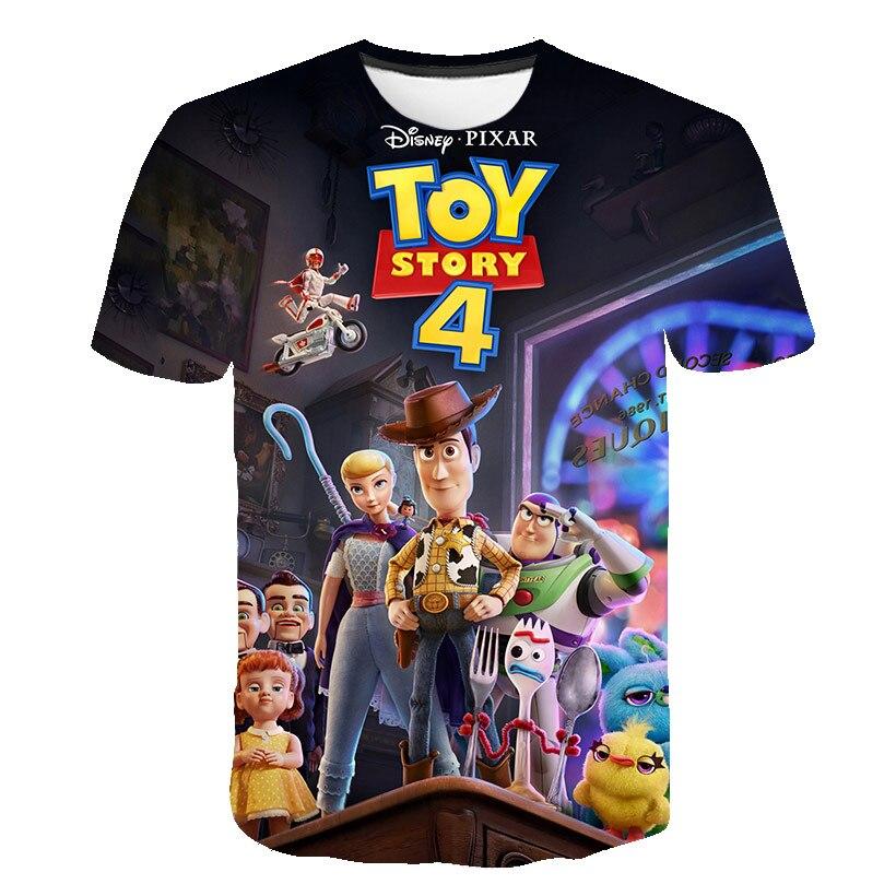 Новый 3D с принтом мультфильма «История игрушек», с О-образным вырезом Футболка; Забавная детская одежда для мальчиков/девочек мода полиэсте...