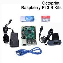 Octoprint Raspberry Pi 3 B Development Board Kit ram 1G с блоком питания камеры для Ender 3 3D-принтера Octoprint monitoring