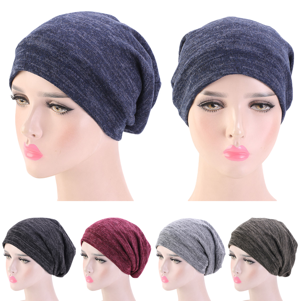 Unisex Winter Warm Ski Sleeping Hat Baggy Beanie Satin Lined Night Sleep Cap Hair Care Bonnet Hair Loss Women Men Pullover Hat