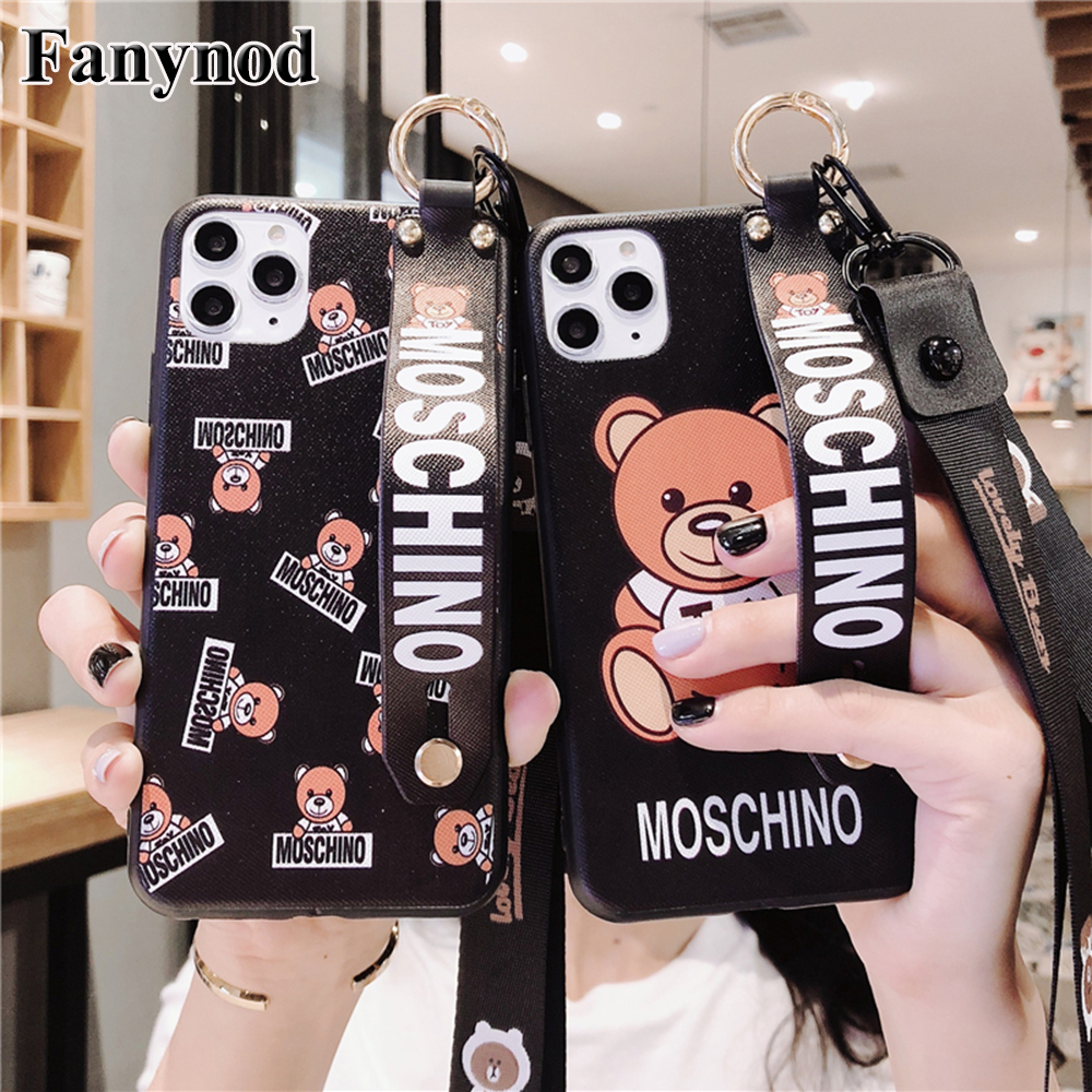 Luxury Fashion Cartoon Style Phone Case For iPhone 11 Pro Max X XR XS Max 6 6s 7 8 Plus with Long & Short Lanyard Strap Wrist on AliExpress