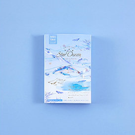 52mm*80mm Blue Sea Paper Greeting Card Lomo Card(1pack=28pieces)