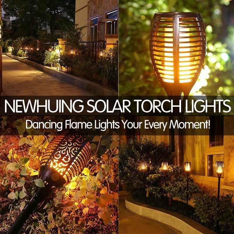 Led Solar Flame Lamp Outdoor Zaklamp Lights Veiligheid IP65 Waterdichte Licht Flikkeren Lichten Tuin Decoratie Gazon Licht Landschap