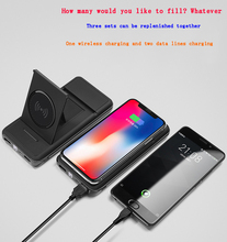 New Style Wireless Charging 10000MAh Power Bank Digital Display Stand Mobile For Phone Treasure iPhone