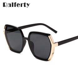 Ralferty Women's Sunglasses Polygon UV400 Oversized Glasses For Women Sunscreen Ladies 2020 Zonnebril Dames W9154