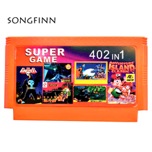 Best Gift Hot Games Cartridge 60 Pin Cart Game Card For 8 Bit Game Player 402 in 1