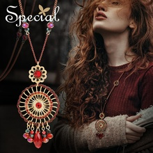 Special Fashion Enamel Dream Catcher Maxi Necklace Crystal Necklaces & Pendants Long Sweater Necklace Gifts for Women S1770N special new fashion opal maxi necklace romantic waterdrop necklaces